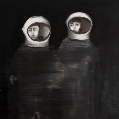 Lápiz y óleo sobre papel mylar, 27 x 16 cm, 2017.