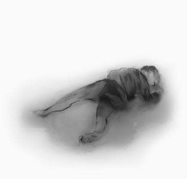 Lápiz y óleo sobre papel mylar, 19 x 21 cm, 2016.