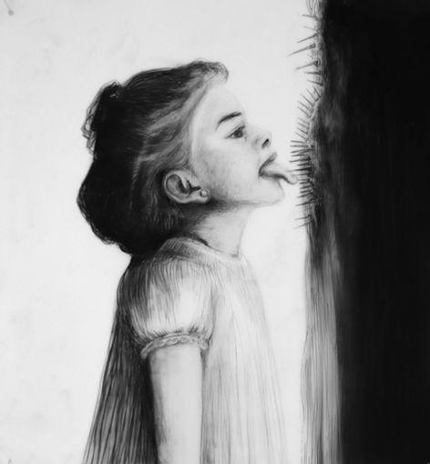 Saborear la vida, lápiz sobre papel mylar, 36x31,5cm, 2019