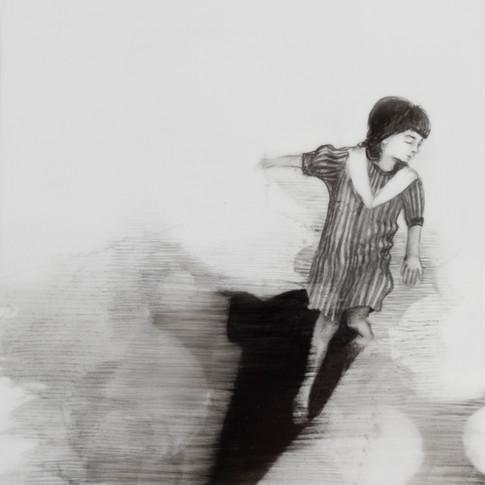 Lápiz sobre papel mylar, 13 x 13 cm, 2018.