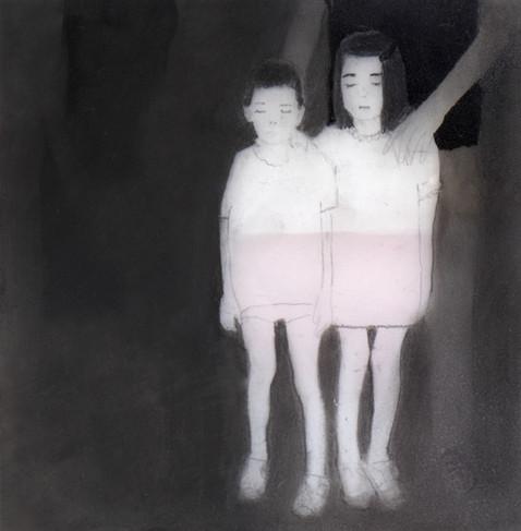 Lápiz sobre papel mylar, 10 x 10 cm, 2015.