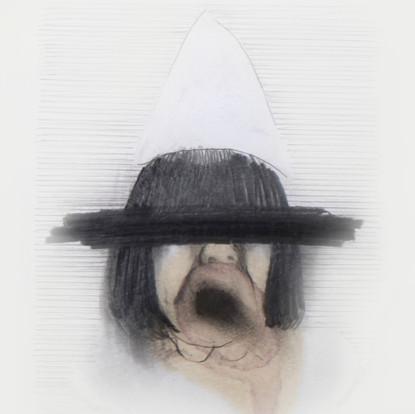 Lápiz y tinta sobre papel, 11 x 10 cm, 2011.