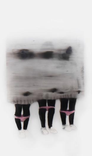 Lápiz sobre papel mylar, 21 x 12 cm, 2016.