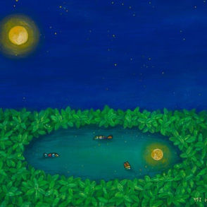 Moon on the Grass