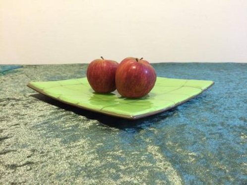 Large Green Retro  Plate