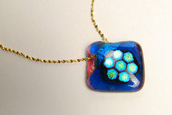 Turquoise and Gold Diamond