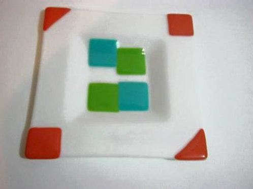 White  square plate