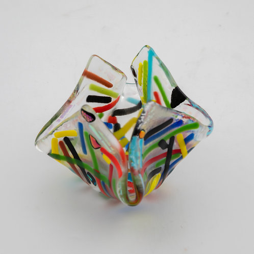 Multi colored Candle Holder