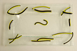 Small Black and yellow Squiggles Plate