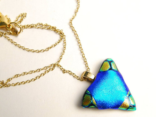 Turquoise and Gold Triangle