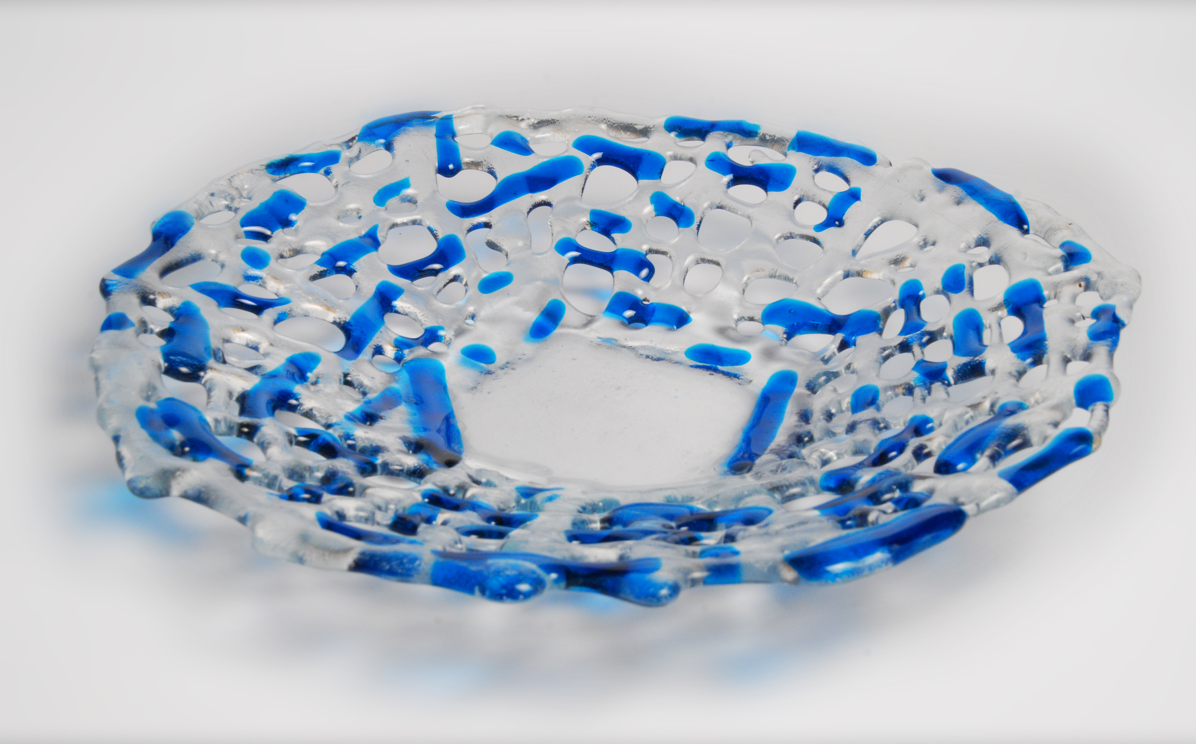 Woven Circular Blue  Plate