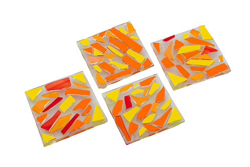 Orange Yellow and Red Coasters