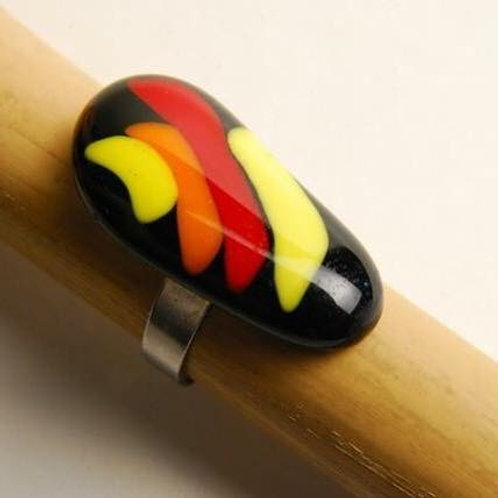 Black Red and yellow ring