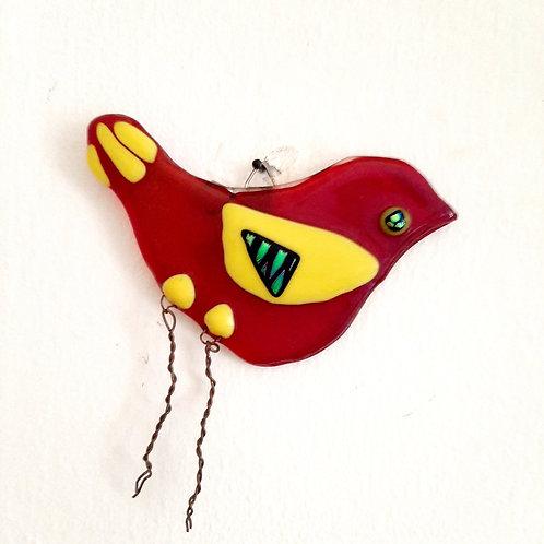 Red Iridecent Bird.