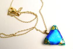 Shiny Blue Triangle
