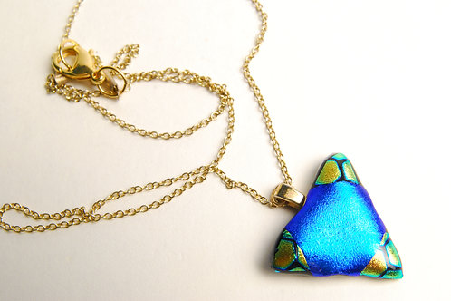 Small Turqouise Dichroic Triangle