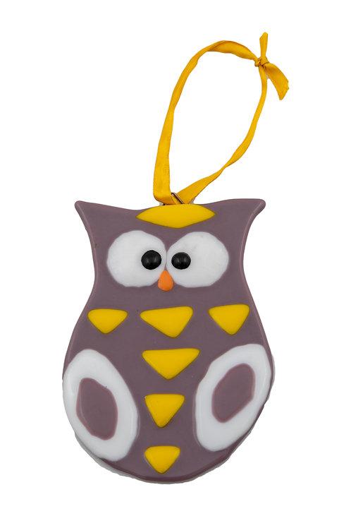 Purple and Yellow Owl
