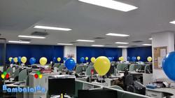 Ação empresarial com balões