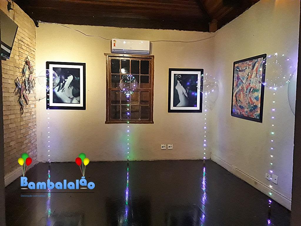 BALÃO BUBBLE COM LED