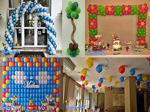 Curso Decoração com balões Nível I
