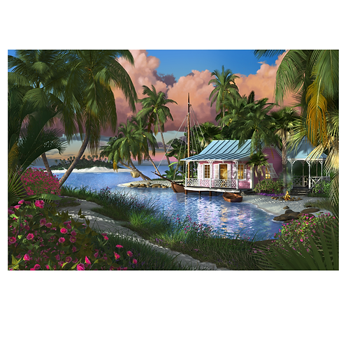 """Bluewater Rendezvous (36"""" X 24"""" on canvas)"""