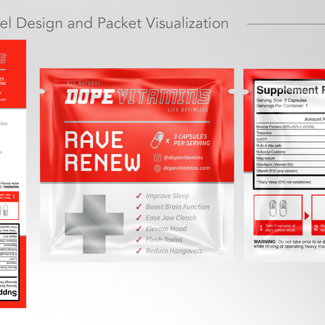 Rave Renew - Packet Label Design
