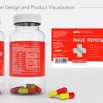 Rave Renew - Bottle Label Design