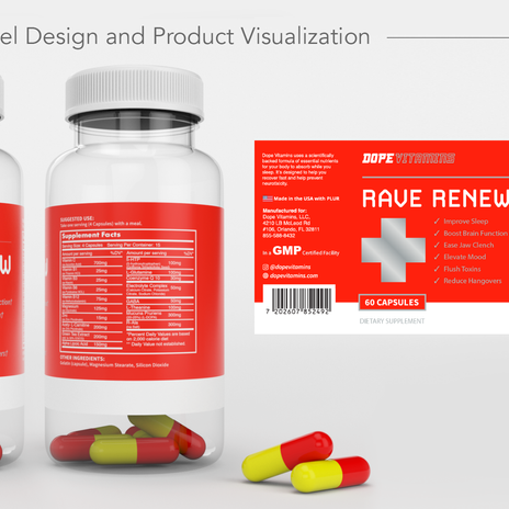 Rave Renew - Bottle Label Design