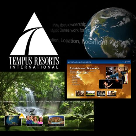 Tempus Resorts Graphic Design