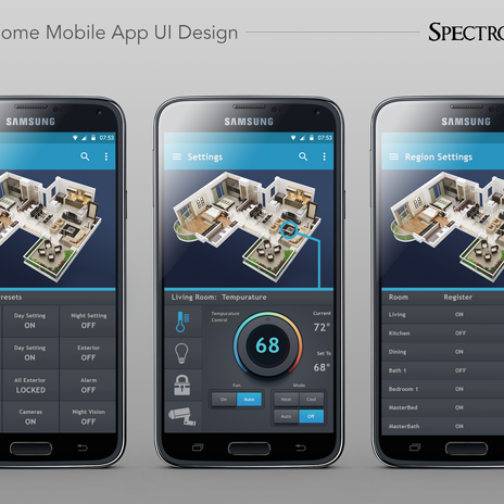 Smart Home Mobile App Graphics