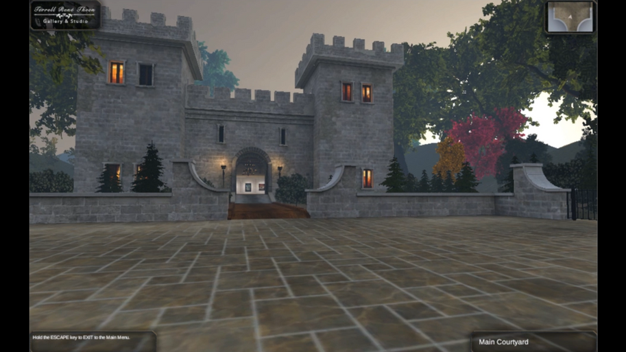 Virtual Reality Castle with Art Gallery