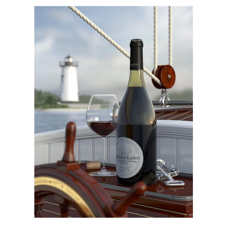 Terrell René Theen, Pinot Noir, Martha's Vineyard, Edgartown Lighthouse