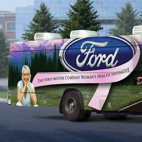 Ford Sponsored Bus Wrap