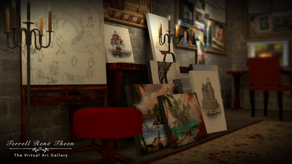 Terrell René Theen, The Virtual Art Gallery and Studio.