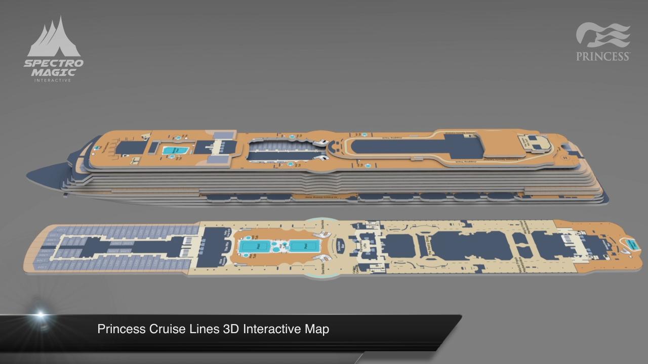 3D Interactive Virtual Map for Princess