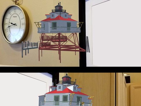 Augmented Reality Lighthouse Art