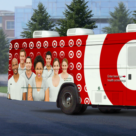 Target Sponsored Bus Wrap