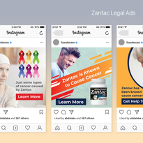 Zantac All Instagram iPhone & Android UI