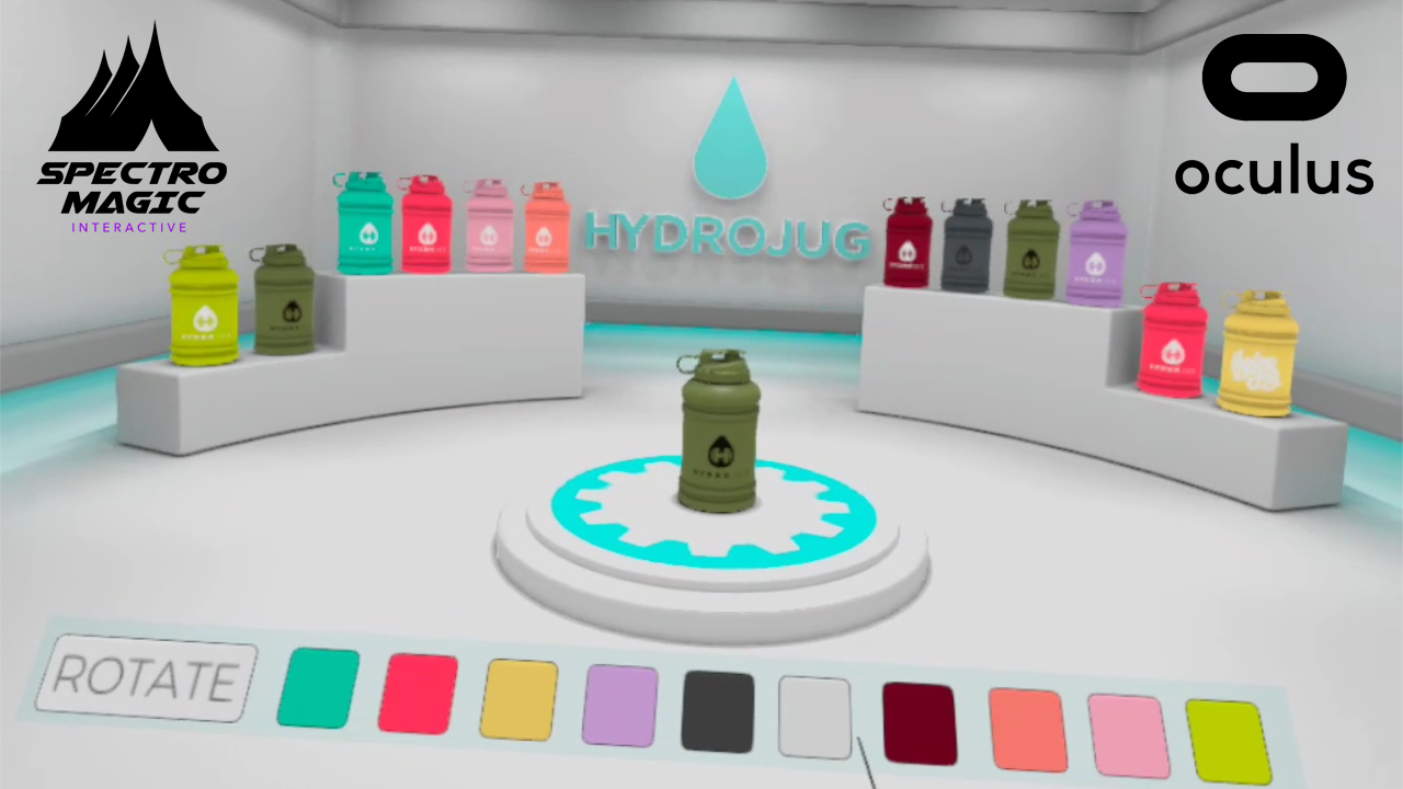 Oculus Quest Virtual Reality Product Showcase for HydroJug