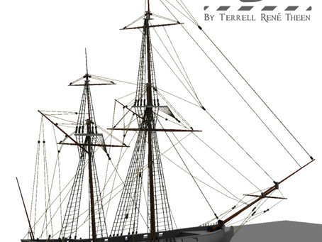 Rear View of the Privateer's Ketch.