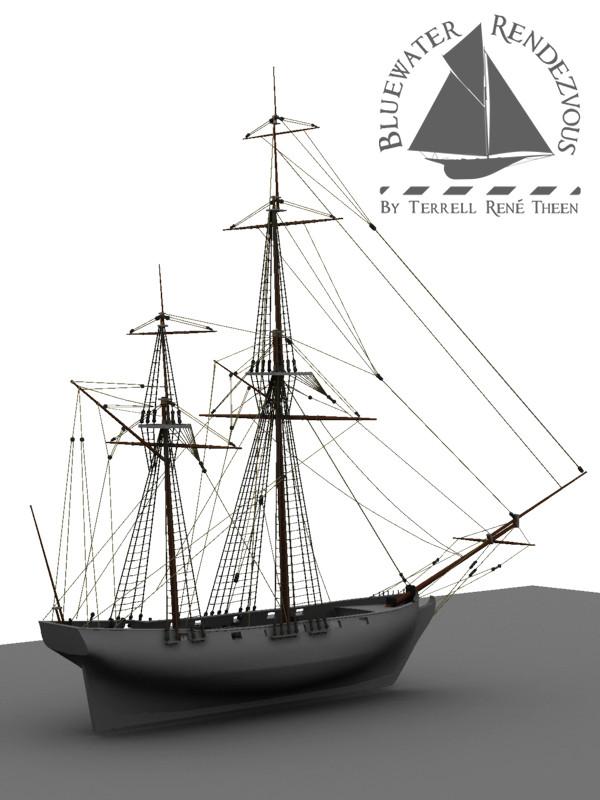 Terrell Rene Theen Ship Model Stern