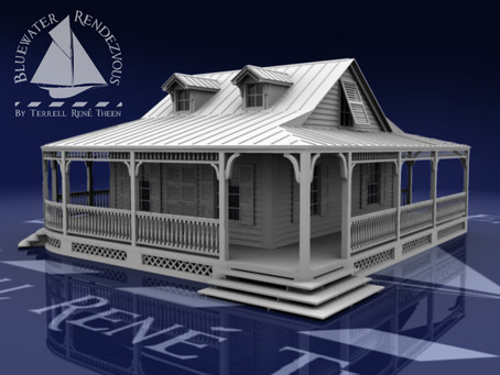 New Tropical Cottage Model for Upcoming Artwork
