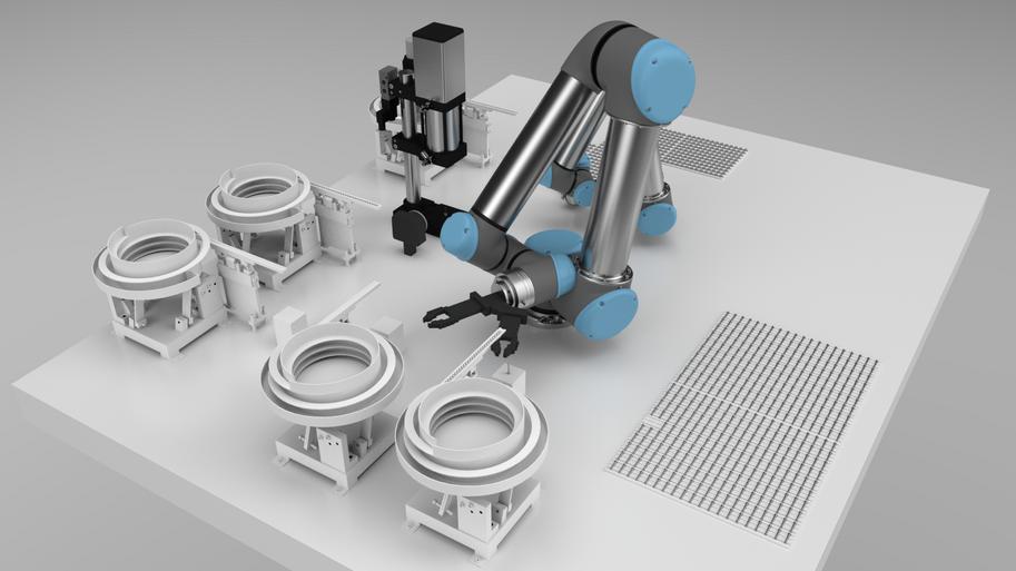 Universal Robots Collaborative Assembly Process.