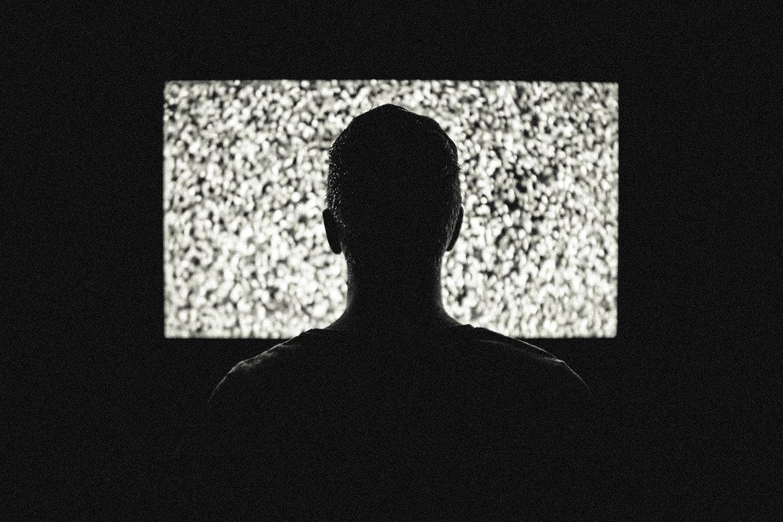 televisión Sillouhette