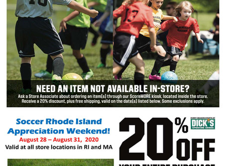 SRI Weekend at Dick's Sporting Goods Aug 28-31