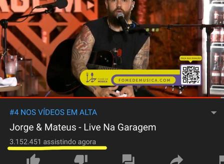 Live Jorge e Matheus l Record Mundial YouTube
