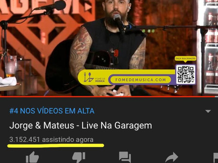 Live Jorge e Matheus l Record Mundial YouTube