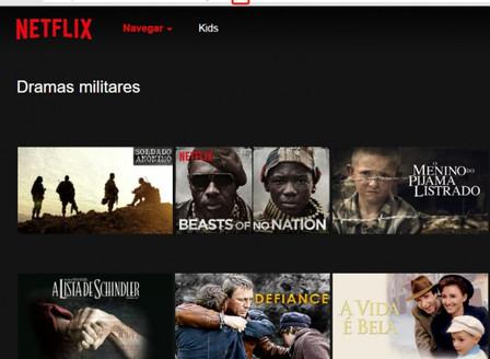 Lista de categorias ocultas do Netflix