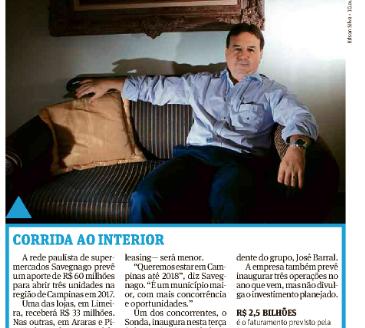 Expansão Savegnago - Folha de S. Paulo