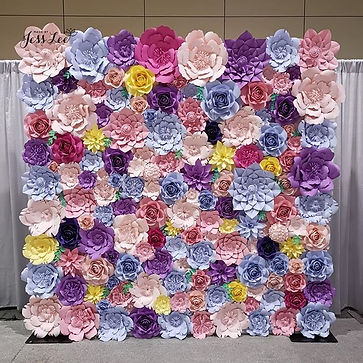 Spring theme flower wall for the HRPA An